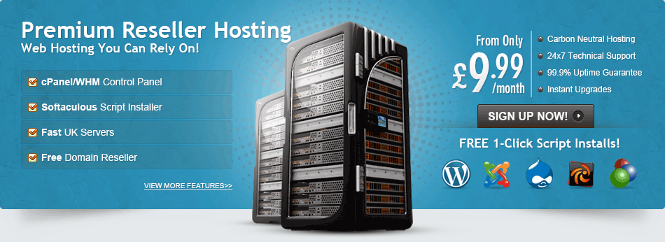 Reliable UK CPanel/WHM Reseller Hosting Banner