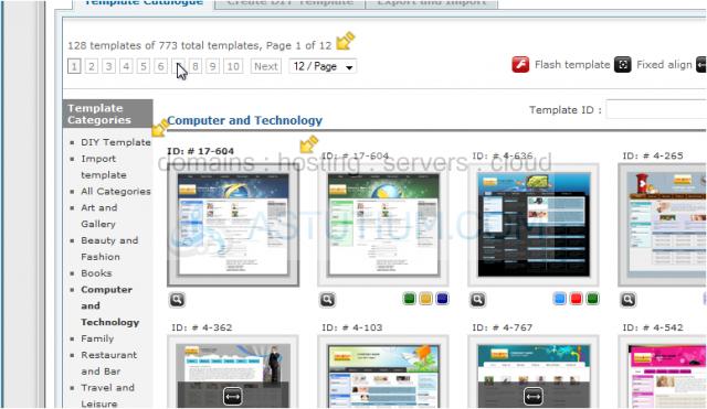 changing your website template in rvsitebuilder