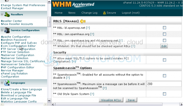 How to configure your outgoing mail server in WHM (SMTP)